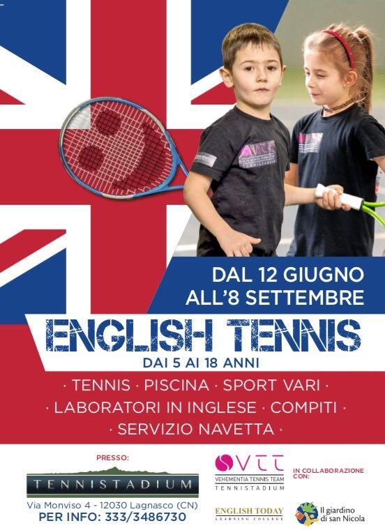 ENGLISH TENNIS PER L'ESTATE!